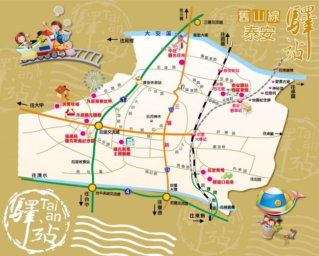 泰安旅游景点地图