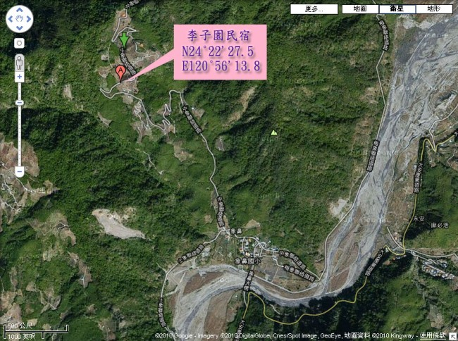 「红砖屋」位於南庄乡南江村里金馆,红砖银瓦的房舍,在好山好水的南庄