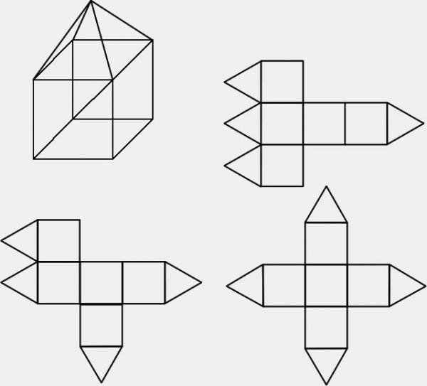 三角形盒子展开图_三角形盒子展开图_三角形糖果盒子_三角形纸盒结构展开图-九九网